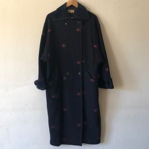 1980's Vintage Gianni Versace Double Breasted Coat